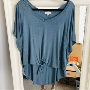 Blue Tie Cupio Cropped T-shirt